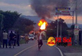 Determinan causas fuego afectó planta GLP San José de Las Matas