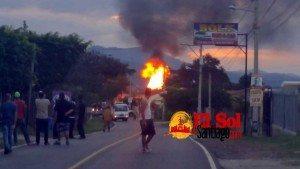 Dos heridos fuego planta GLP San José de Las Matas