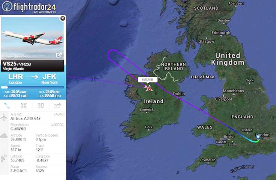 Cegado por un láser, piloto de un avión decide regresar a Londres