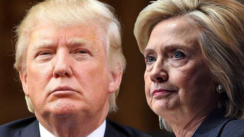 Trump con ventaja sobre Hillary Clinton