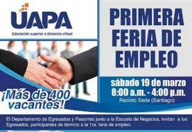 Feria empleos en UAPA este sábado