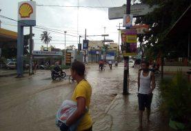 Al menos 300 viviendas inundadas por lluvias en Santiago