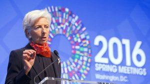 Lagarde atribuyó a ese motivo la lentitud del crecimiento económico
