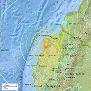 USGS dice fue de 7.8 sismo Ecuador