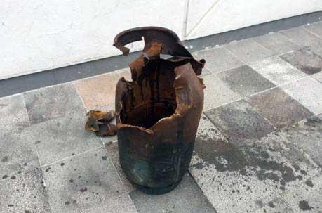Explosión cilindro GLP mata herrero