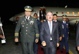 Danilo Medina regresó de Cuba