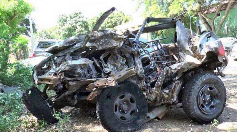 Tres muertos accidente vehículo robado