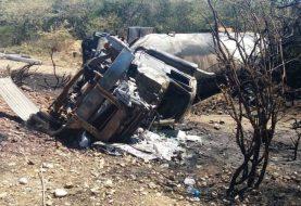 Muere calcinado chofer tanquero GLP se incendió en Montecristi
