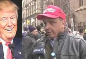 Neoyorkinos se manifiestan a favor de Trump
