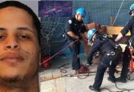 Policías rescatan y apresan presunto narco dominicano que huía