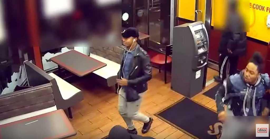 Hispanos y morenos asaltan negocio comida rápida en Brooklyn