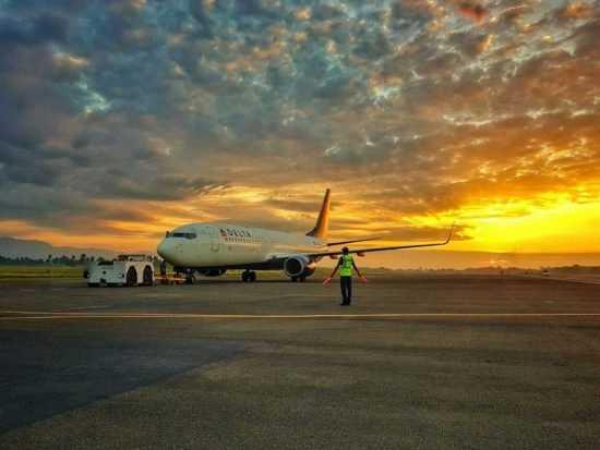 avion aeropuerto cibao