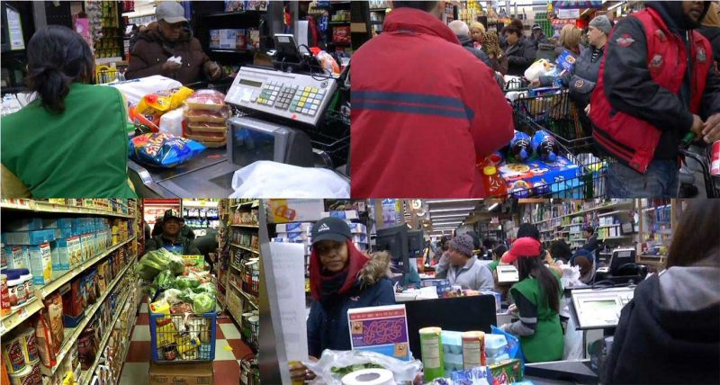 Dominicanos abarrotan supermercados y bodegas Manhattan, Bronx y Nueva Jersey