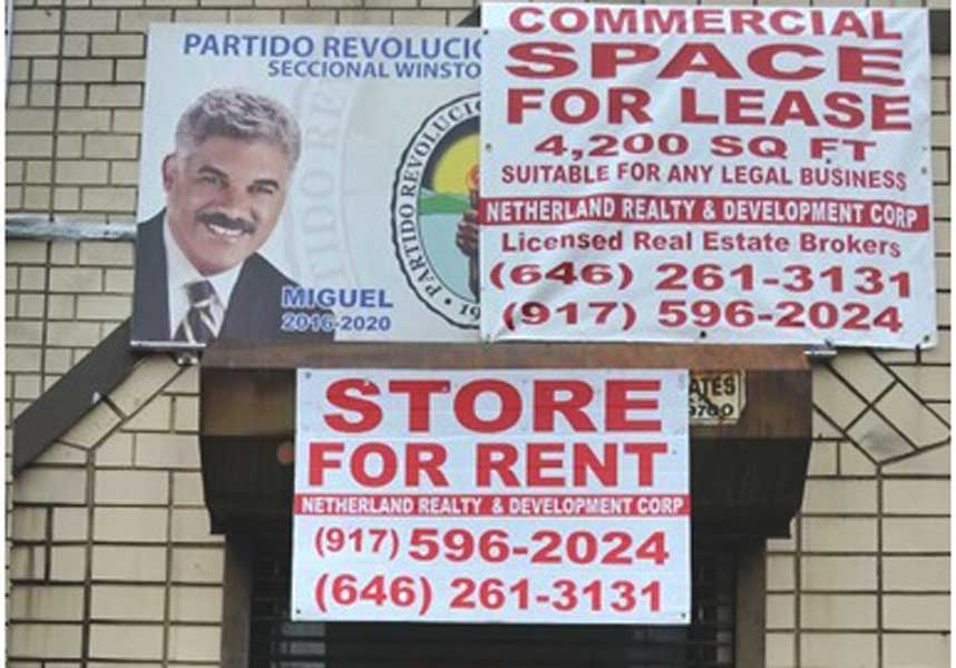 Cierran local PRD Nueva York por falta de pago