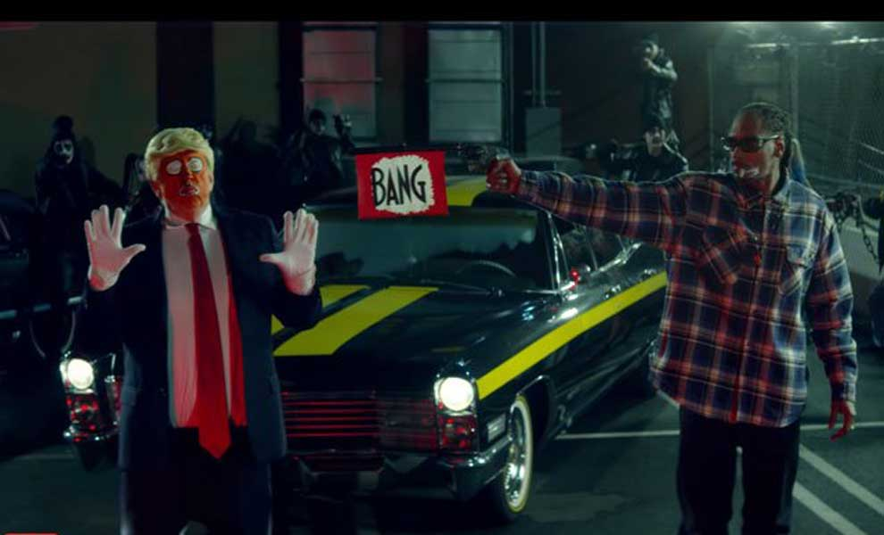 Snoop Dogg dispara a Trump en un polémico videoclip