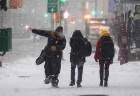 Tormenta de nieve Stella semi paraliza a Nueva York