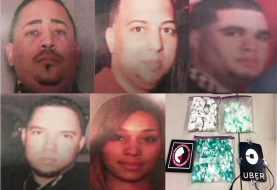 Nueva York | Atrapan 5 dominicanos con un kilo de cocaína y US$ 22 mil