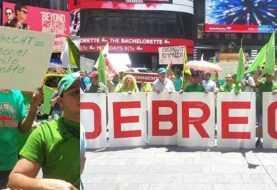 Movimiento Verde piquetea consulado dominicano Nueva York