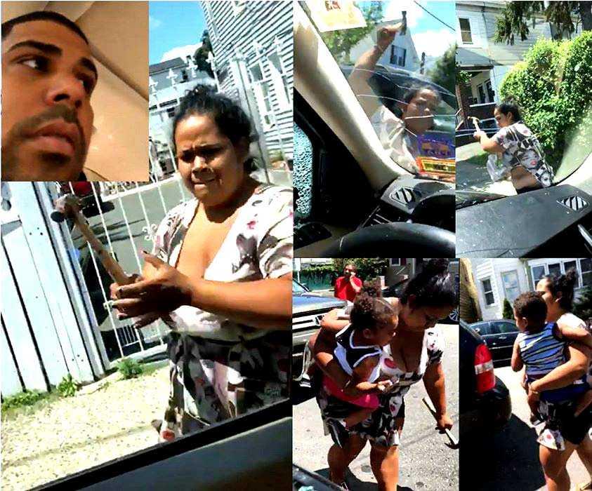 Policía New Jersey buscan dominicana atacó con martillo yipeta esposo