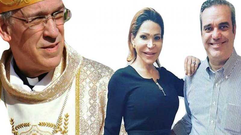 Obispo Masalles critica foto de Abinader y Mía Cepeda