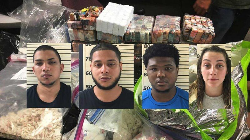 4 dominicanos capturados con 18 kilos de heroína