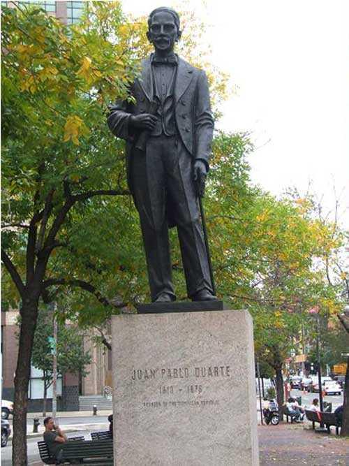 Estatua de Duarte podría ser eliminada en Nueva York