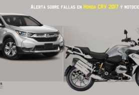 Alertan por yipetas Honda CRV 2017 y motos BMW con problemas