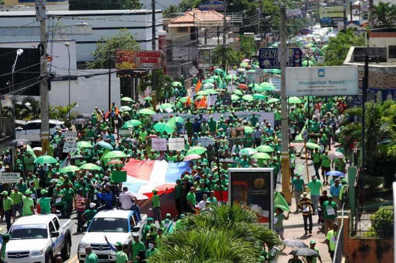 Marchan en Bonao contra la impunidad y la corrupción