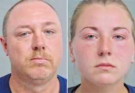 Pareja arrestada por tener sexo con perro delante de menor