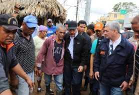 Danilo Medina recorre zonas afectadas por huracán María
