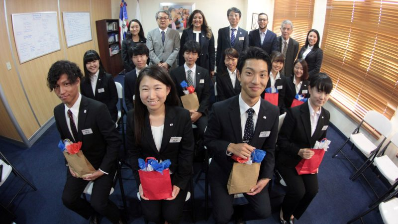 Gobierno dominicano recibe estudiantes japoneses
