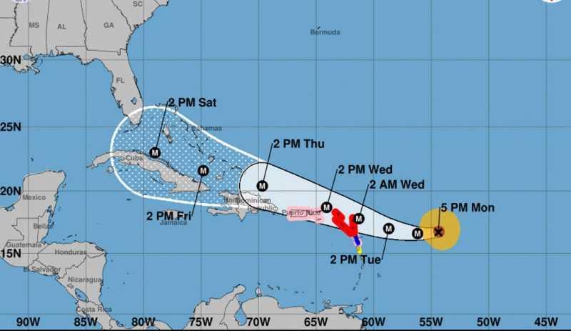 Huracán Irma sube a categoría cuatro
