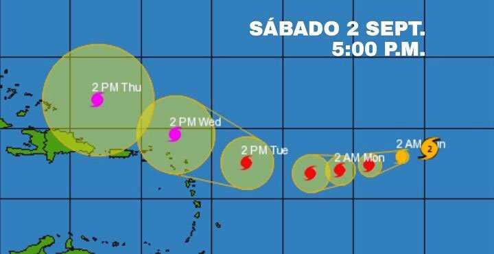 Onamet monitorea evolución y trayectoria huracán Irma