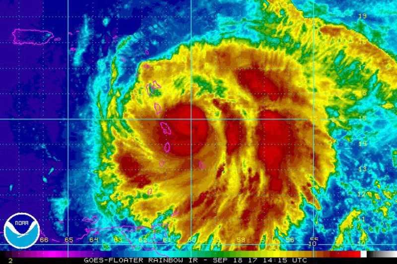 María se fortalece como un poderoso huracán categoría 3