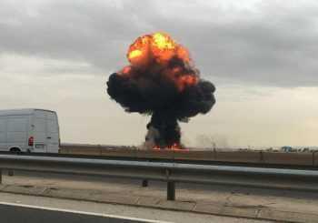Se estrella un avión militar F18 en España