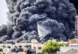Fuego afecta almacén de Plaza Lama en la autopista Duarte