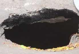 Se hunde pedazo de tierra en El Bronx