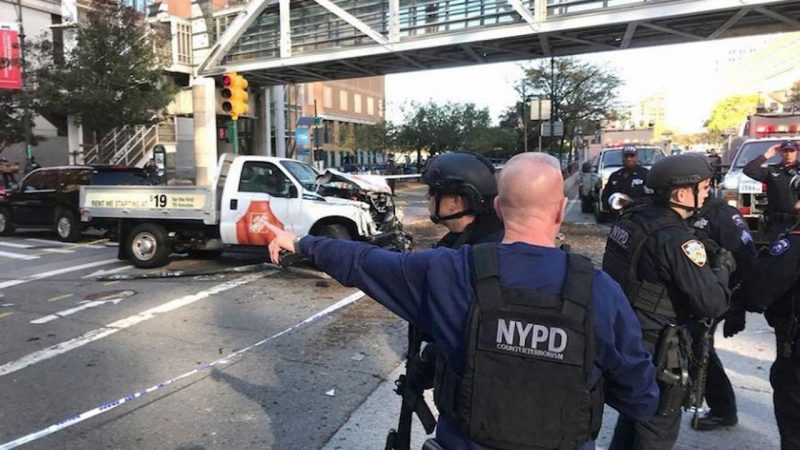 Fue ataque terrorista atropellamiento en Manhattan