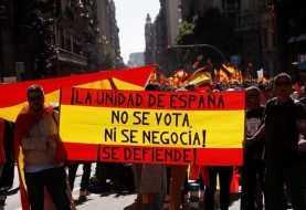 Masiva manifestación en el centro de Barcelona