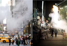 ¿Por qué sale vapor de las alcantarillas de Nueva York?