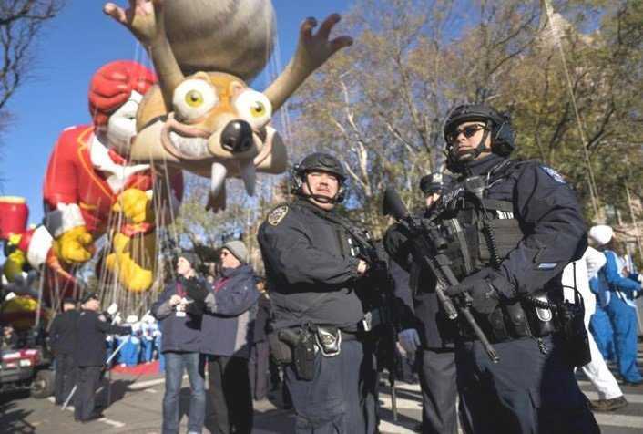 Por miedo muchos no asistieron al desfile de Acción de Gracias