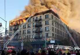 Fuego de 20 horas afecta familias dominicanas Alto Manhattan