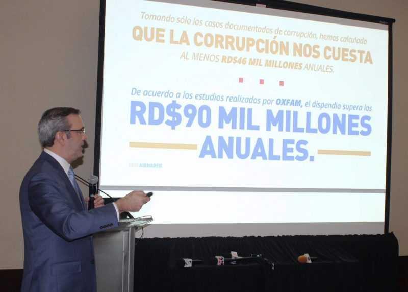 Abinader propone acuerdo nacional contra la corrupción y la impunidad