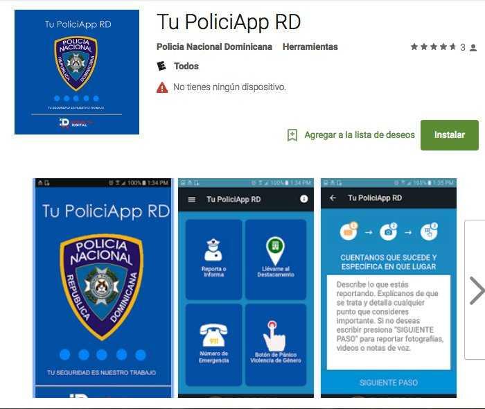 La Policía Nacional lanza aplicación para reportar delitos