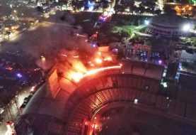 Fuego afecta el estadio Quisqueya Juan Marichal