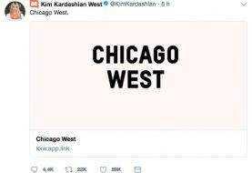 Chicago West, el nombre de la hija de Kim Kardashian