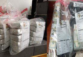 DNCD ocupa  25 kilos de cocaína y 500 mil dólares