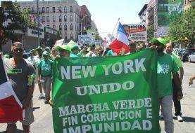 Mientras Marcha Verde recorría Alto Manhattan criollos vociferaban a favor de Trujillo