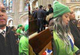 Guachimán Catedral NY fue quien tuvo mínimo altercado con Marcha Verde