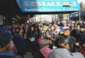 Dominicanos protestan en apoyo restaurant Galicia